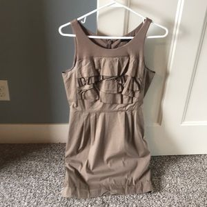 BCBG Beige Dress Wedding Party Sleeveless